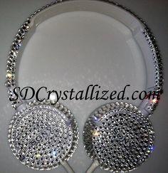 Swarovski Crystal Headphones.  www.SDCrystallized.com