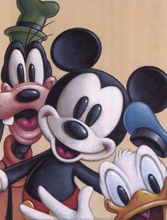 Mickey, Donald, and Goofy - Friends Forever ~ Fine-Art Print - Goofy Art Prints and Posters - Disney Pictures
