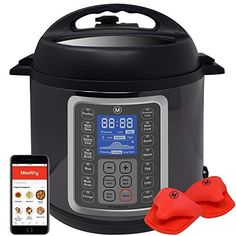 MultiPot Programmable Pressure Cooker 6 Quarts by Mealthy - Stainless Steel Pot steamer basket instant access to recipe app! Pressure cook slow cook sauté rice cooker yoghurt steam etc. Best Electric Pressure Cooker, Electric Cooker, Instant Pot, Instant Access, Rice Cooker, Slow Cooker, Bulthaup Kitchen, Pots, Stainless Steel Pot