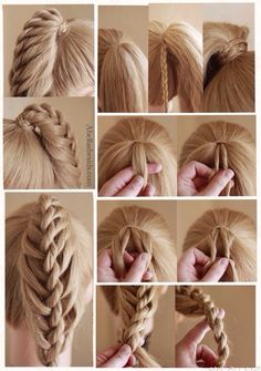 Twisted braid/ hairstyle with pony tail!!