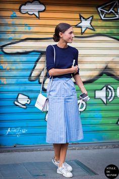 #New on #STYLEDUMONDE http://www.styledumonde.com with @diletta_grazia_it #DilettaBonaiuti at #milan #fashionweek #mfw #stripes #outfit #ootd #streetstyle #streetfashion #streetchic #streetsnaps #fashion #mode #style