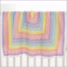 Baby Blanket Squared FREE Downloadable Beginner Crochet Pattern - Herrschners