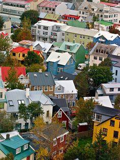 Reykjavik. Funky town. Great colors.