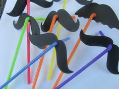 $12. 24 Fun Mustache Straws Fiesta Party Photo Prop by CelebrationPaper. , via Etsy.