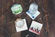 Bring your Instagram photos to life by turning them into coasters.