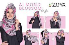 Tutorial Hijab Zoya Segi Empat