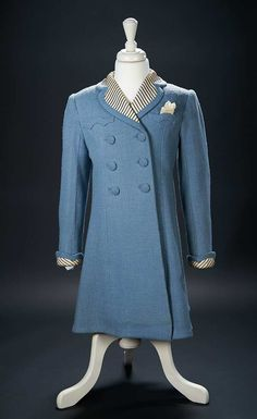 "Love, Shirley Temple, Collector's Book: 462 Blue Boucle Woolen Coat Worn by Shirley Temple in the 1938 Film ""Just Around the Corner"""