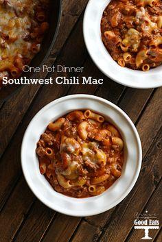 Southwest Chili Mac- delicious one pot dinner! #recipe