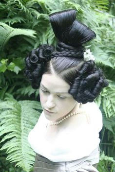 1830's hairstyle. So ridiculous I would like to try it.