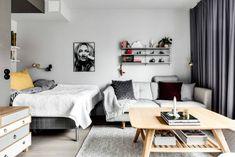 Un apartamento de apenas 30 metros en tonos grises, con mucho ángel y mucha tendencia nórdica.