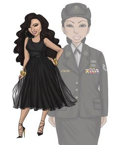 Thank you @marycandicewilliams for your service to our country and trusting me to create this for you. It was an honor.  #jonquelart #comission #military #veteran #airforce #honor #fashionillustration #art #instagood #instaart #nycartist #illustration #salute #honorourveterans #beauty #forever21 #mircosoft #digitalart #adobephotoshop #drawing