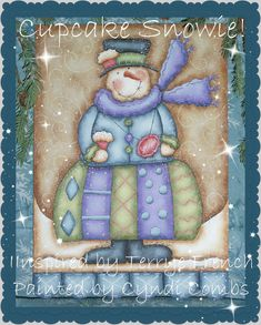 Cupcake Snowie  Painting With Friends E by CyndiCombsDesigns