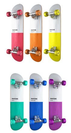 PANTONE skateboards by Pavel Kulinsky, via Behance