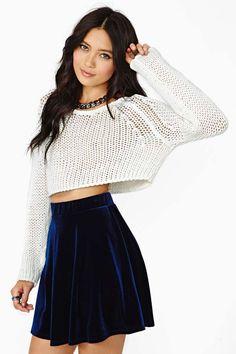 Nasty Gal Oracle Velvet Skirt