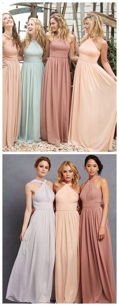 peach bridesmaid dress,chiffon bridesmaid dress,long bridesmaid dress,a-line dress,women's fashion dress,2016 bridesmaid dress