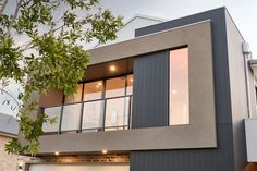 #thearthouse #newhome #displayhome #firsthome #frontelevation #elevation #mixedmaterials #contemporary #balcony #lookout #native tree