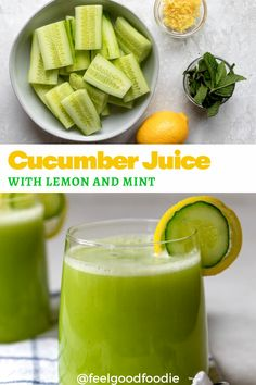 You can make cucumber juice with just cucumbers and water and no special juicer. I share the easy steps to make the recipe and its amazing health benefits! Quick Healthy Snacks, Healthy Living Recipes, Healthy Juices, Good Healthy Recipes, Low Calorie Recipes, Yummy Snacks, Healthy Drinks, Snack Recipes, Healthy Eating