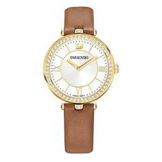 Swarovski Aila Dressy Lady Brown Leather Gold Tone Watch 5376645 for sale online Swarovski Watches, Swarovski Bracelet, Vintage Swatch Watch, Bracelet Cuir, Smartwatch, Quartz Watch, Watch Bands, Lady, Bracelets