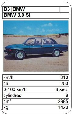 BMW 3.0 Si Top Trumps, Bmw, Vintage Games, Old Cars, Hot Wheels, Graphic Art, Classic Cars, Automobile, Novels