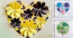 Oui oui! Des cœurs remplis de fleursen forme de coeur. Parce que les pétales de ces fleurs, sont en faits de cœurs pliés en deux! Vous pourrez imprimer le patron du coeur pour faire le projet. Et faites vous un patron pour les différentes grosseurs