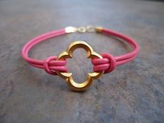 phi mu bracelet #Quatrefoil #sorority