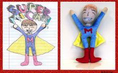 Kids' original sketches become cherished plush toys