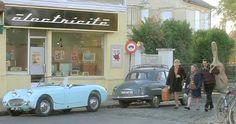 1958 Austin-Healey Sprite 'Frogeye' in french movie 'La première fois que j'ai eu 20 ans'
