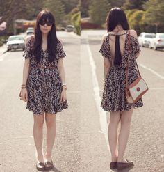 Deep Cuts (by Danielle Payton) http://lookbook.nu/look/3128977-Ray%20Ban-Sunglasses-Sugar%20Lips-Dress-Dooney