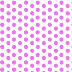 Calypso - Pink Polka Dots on White Background