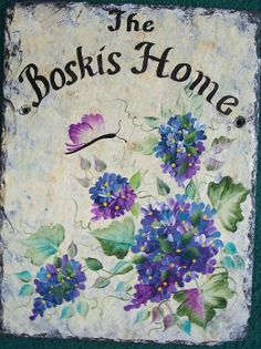 PERSONALIZED Slate Welcome Sign  Blue Lavender by ABeautifulGift, $69.99