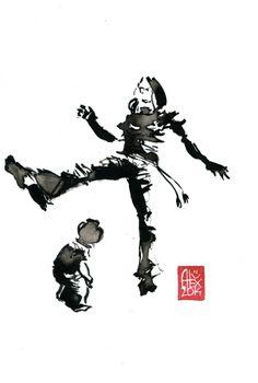 Encres : Capoeira – 601 [ #capoeira #watercolor #illustration]