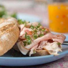 Lekker voor de #lunch: Broodje kip pesto #WeightWatchers #WWrecept