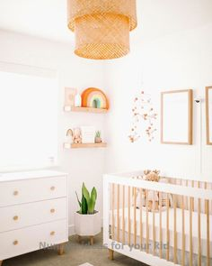Baby Allens nursery reveal is live on HappilyEverAllen.Co We hope you enjoy this post as much as we enjoyed putting her room together Big thanks to LexiLaycockInteriors for bringing her nursery to life ltkhome ltkbump ltkbaby liketkit liketoknow. White Nursery, Baby Nursery Decor, Baby Bedroom, Nursery Neutral, Nursery Themes, Girl Nursery, Project Nursery, Natural Nursery, Nursery Art