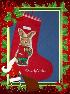 Kerstsok konijn