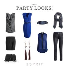 Sequins, rivets and rhinestones are essential for a glamorous party outfit. Here are the most beautiful Esprit looks for sparkling celebrations and pompous dinner parties. #esprit