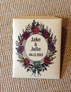 Wildflower seed packet favors for weddings, bridal and baby showers, anniversaries, engagement parties and more. Includes: 75 personalized