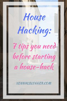 Tips you need before starting to house hack. I bought my first house hack house when I was Here's what I learned. Ways To Save Money, How To Make Money, Money Tips, Life Unexpected, Retirement Planning, Work From Home Jobs, Blogging For Beginners, Money Management, Extra Money