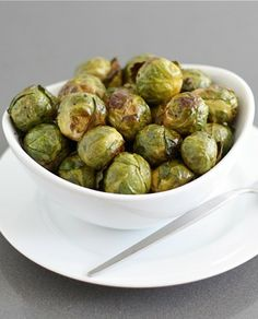 Roasted Brussels Sprouts with Balsamic Vinegar Recipe on twopeasandtheirpod.com So simple and SO good! A great side dish for your holiday meal!