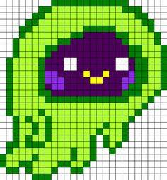 Ecto Moshi Monsters perler bead pattern