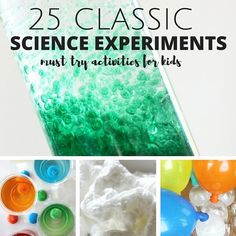 These classic science experiments are a must try! Fun and easy science experiments to share with kids. Encourage a love of science with these classics.