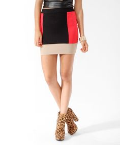 Colorblocked Bodycon Skirt   FOREVER21 - 2015036975