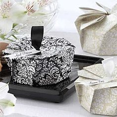 Damask Origami Favor Box Kit