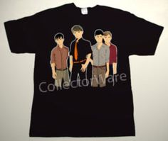 FRANZ FERDINAND band cartoon CUSTOM ART UNIQUE T-SHIRT  Each T-shirt is individually hand-painted, a true and unique work of art indeed!  To order this, or design your own custom T-shirt, please contact us at info@collectorware.com, or visit  http://www.collectorware.com/tees-franz_ferdinand.htm