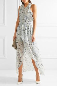 IRO | Jessy ruffled printed chiffon halterneck dress | NET-A-PORTER.COM