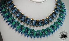 Quimby Necklace Pattern di GQHPatternsandKits su Etsy https://www.etsy.com/it/listing/167263973/quimby-necklace-pattern