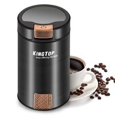 Coffee Grinder Electric KINGTOP Fresh-Grind Coffee Bean Grinder with Stainless Steel Blade for Bean Seed Nut Spice Herb Pepper Years ]. Grind fresh coffee beans for your morning cup of joe with this Kingtop coffee grinder. Best Coffee Grinder, Manual Coffee Grinder, Best Coffee Maker, Coffee Grinders, Spice Grinder, Coffee Tasting, Coffee Drinks, Coffee Mugs, Coffee Club