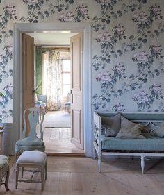 Designers Guild Floreale zinc wallpaper