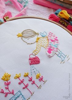 Embroidery Pattern Needlecraft Design Instant por TamarNahirYanai
