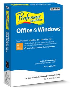 Learn the ins and outs of Microsoft Office and Windows with Professor Teaches! It's the easiest way to build your computer skills!
