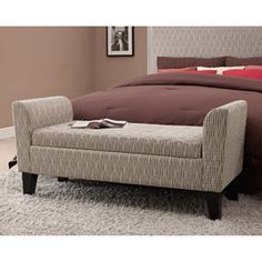 Dorel Home Products Dot Pattern Storage Bench, Brown/Tan - better but it'd be nice without a pattern.